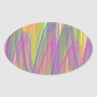 Spring ribbons oval sticker