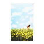 "Spring Romance Art ""Hug-O-War"" Large Gallery Wrap Canvas"