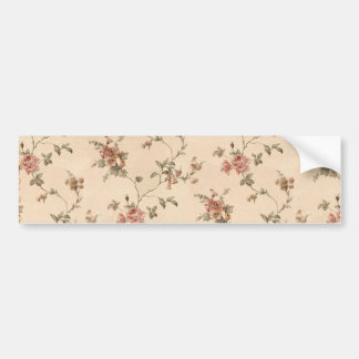 spring romance victorian rose pattern bumper sticker