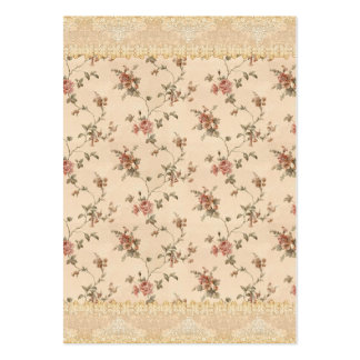 spring romance victorian rose pattern business cards