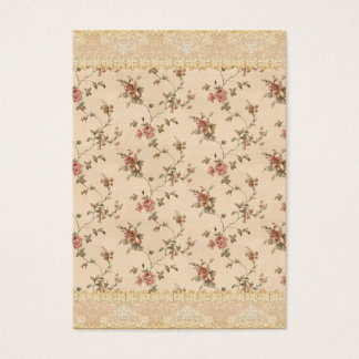 spring romance victorian rose pattern business card