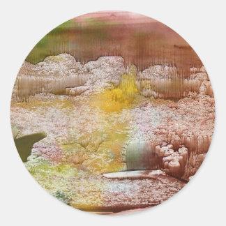 Spring Round Sticker