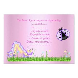 SPRING RSVP PINK 9 CM X 13 CM INVITATION CARD