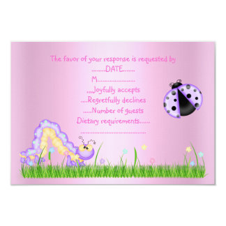 SPRING RSVP PINK CUSTOM ANNOUNCEMENT