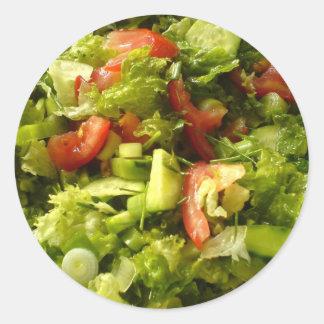 spring salad classic round sticker