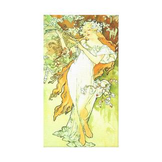 Spring Season Alphonse Mucha Fine Art Gallery Wrapped Canvas