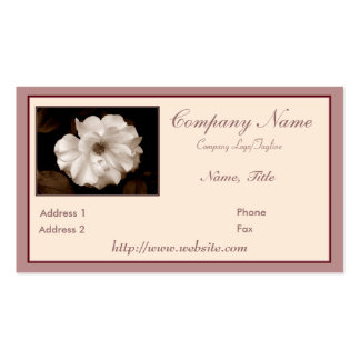 'Spring Sepia Rose' Business Card