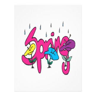 Spring Showers 3 Flyer Design