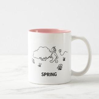 Spring sketch printed mug
