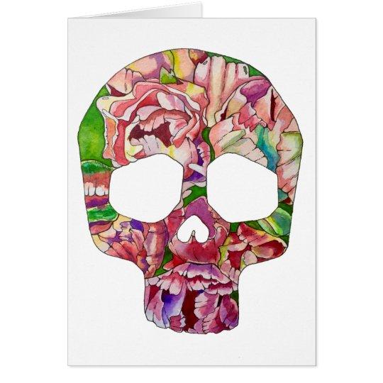 Spring skull card