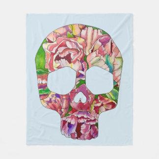 Spring skull fleece blanket
