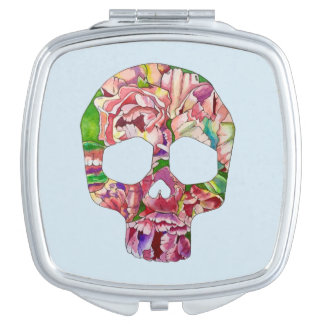 Spring skull makeup mirrors