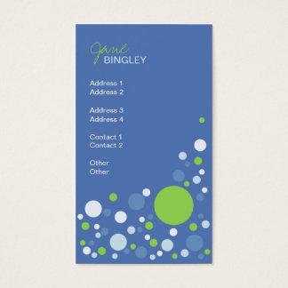 Spring Sky Retro Dots Business Card