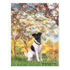 Spring - Smooth Fox Terrier Postcard