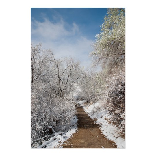 Spring Snow Nature Poster