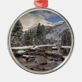 Spring snow, Sierra Nevada, CA Christmas Ornament