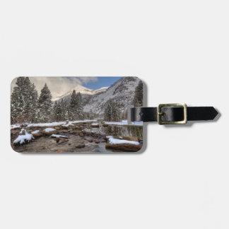 Spring snow, Sierra Nevada, CA Luggage Tag