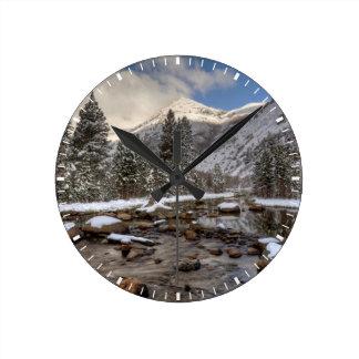 Spring snow, Sierra Nevada, CA Round Clock