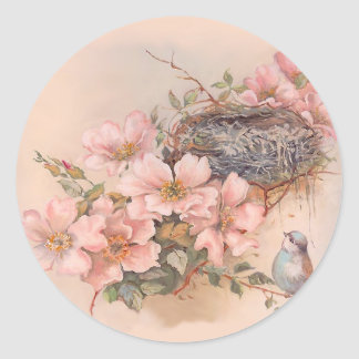 Spring Song Classic Round Sticker