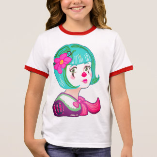 Spring Spirit Clown Girls' Ringer T-Shirt