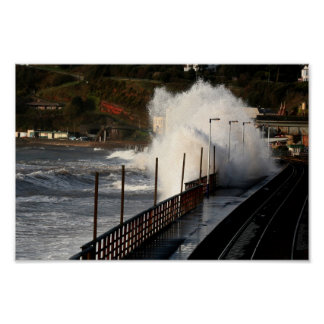 Spring storm Dawlish Posters