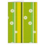 Spring Stripes and Flowers Thank You / Greeting Card