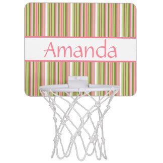 Spring Stripes Personalized Mini-Basketball Goal Mini Basketball Hoop