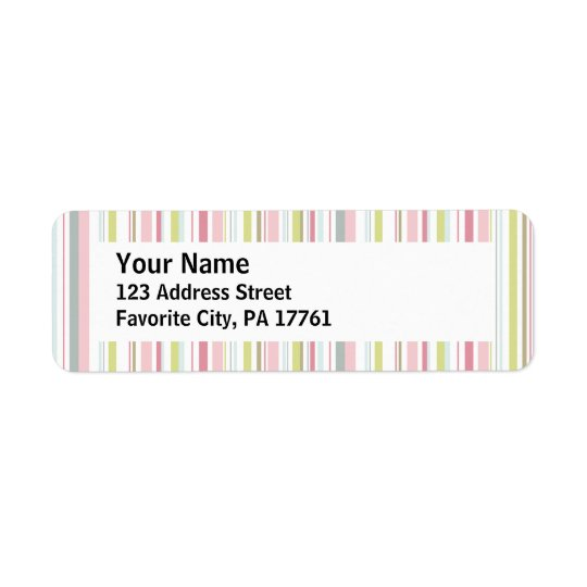 Spring Stripes Return Address Labels