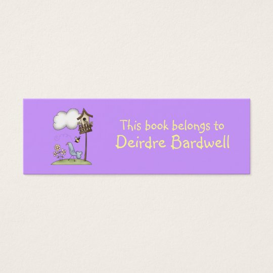 Spring Stuff · Birdhouse & Bird Mini Business Card
