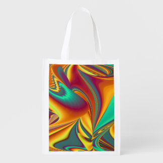 Spring Summer Autumn Flowers Magic Reusable Grocery Bag