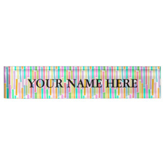 Spring summer Easter colors cute fun whimsical art Name Plate