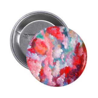Spring Summer Floral Fantasy Elegant Art 6 Cm Round Badge
