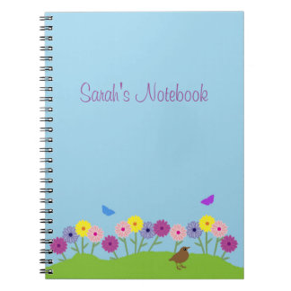 Spring summer flower custom notebook