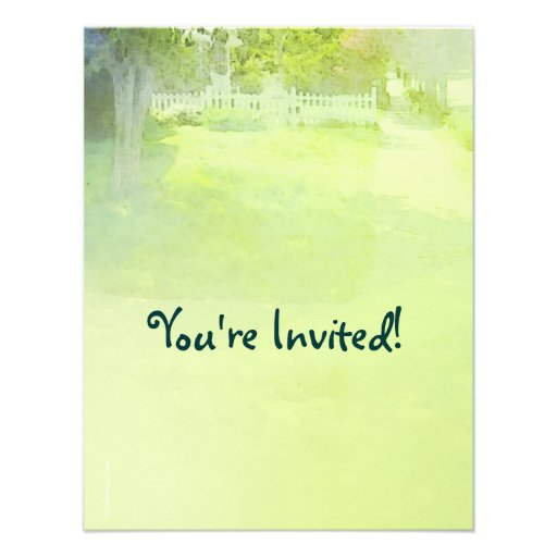 Spring Summer Outdoor Party Invitation