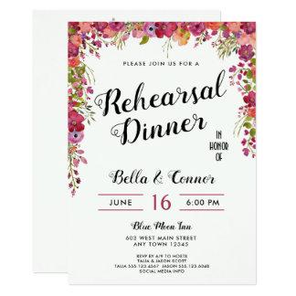Spring Summer Wedding Rehearsal Dinner Invitation