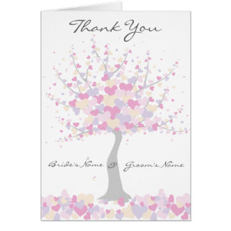 Spring/Summer Wedding  - Thank You Note Card