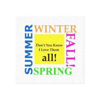 Spring, Summer, Winter, Fall Stretched Canvas Prints