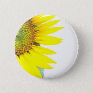 Spring sunflowers 6 cm round badge