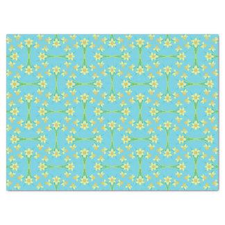 Spring Sunshine Daffodils Blue Tissue Paper