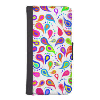 Spring Swirl Paisley Pattern iPhone SE/5/5s Wallet Case