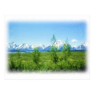 Spring Tetons postcard