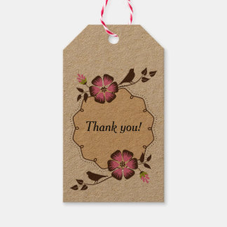 Spring Thank You Label with Frame