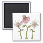 Spring Things · Pink Flowers Fridge Magnets