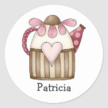 Spring Things · Pitcher Round Stickers