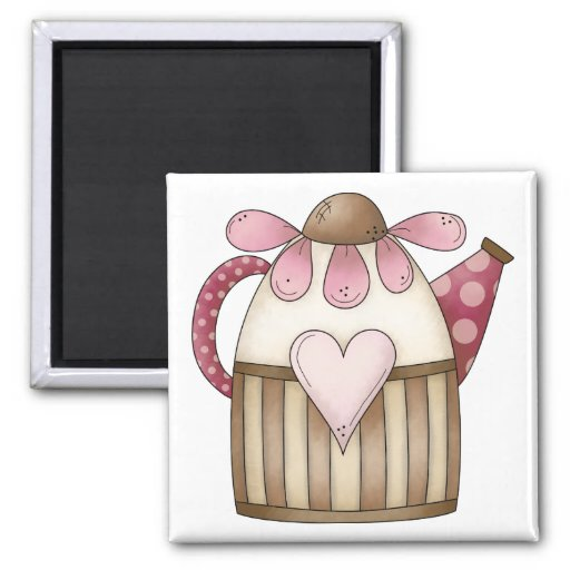 Spring Things · Pitcher Square Magnet