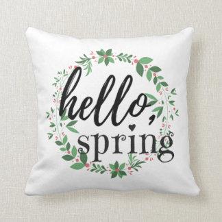 Spring Throw Pillow - Hello, Spring