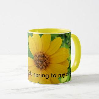 Spring time coffee mug. flowers , pretty . mug