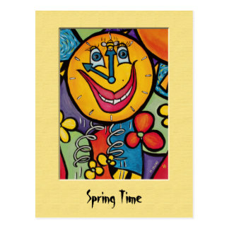 SpRiNg TiMe Colorful Postcard