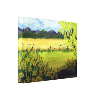 Spring-time Daffodils, stretched canvas print