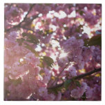 spring time in Prospect Park Brooklyn NY Large Square Tile